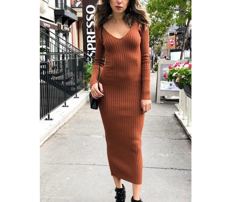 Gia Ribbed Knit Dress