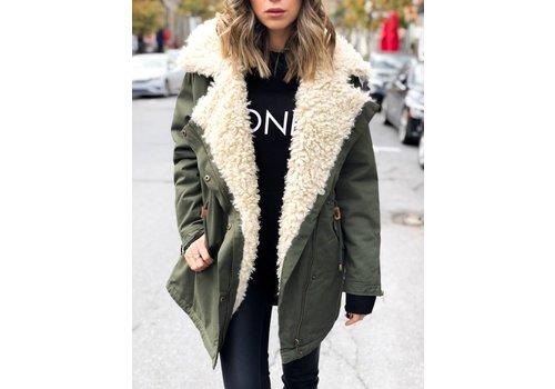 Nouveau Noir Oda Oversized Fur Parka