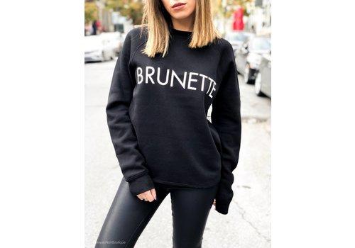 BRUNETTE Brunette Crew Black
