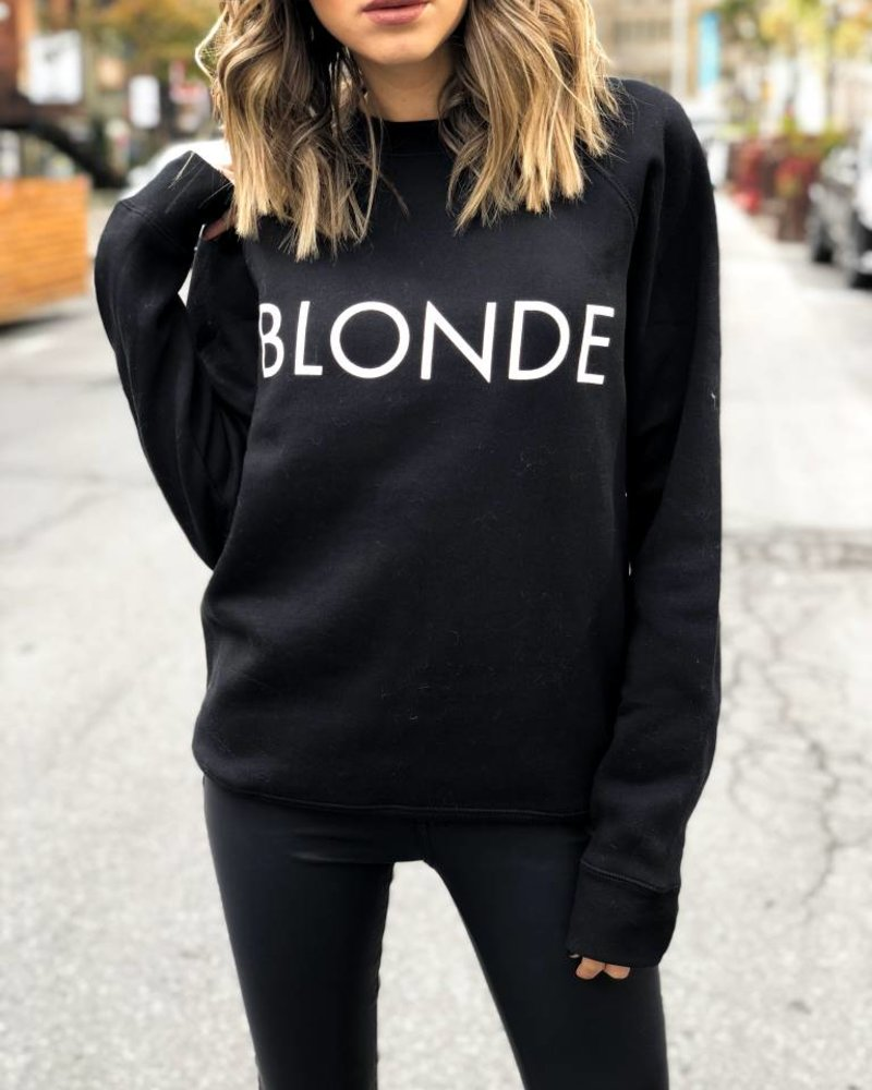 BRUNETTE Blonde Crew Black