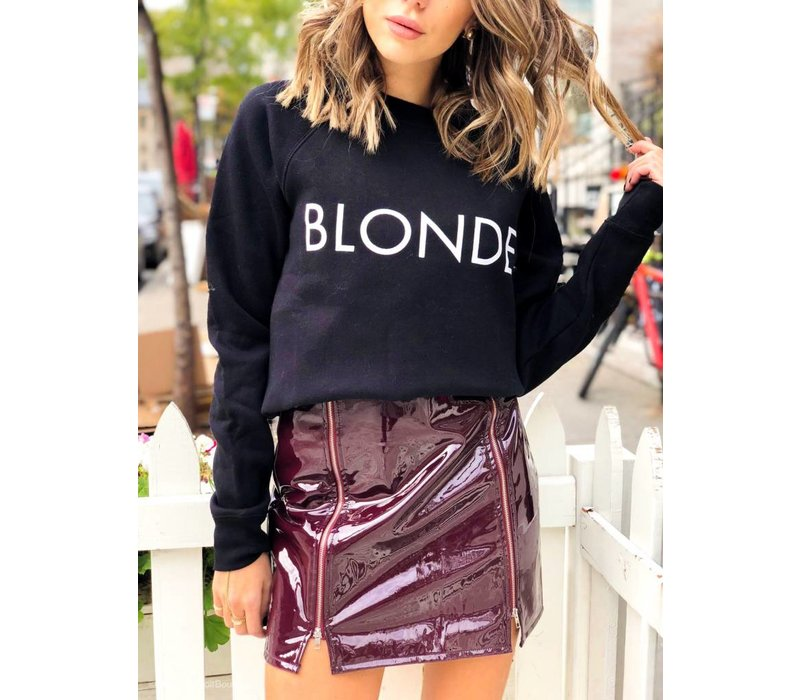 Blonde Crew Black