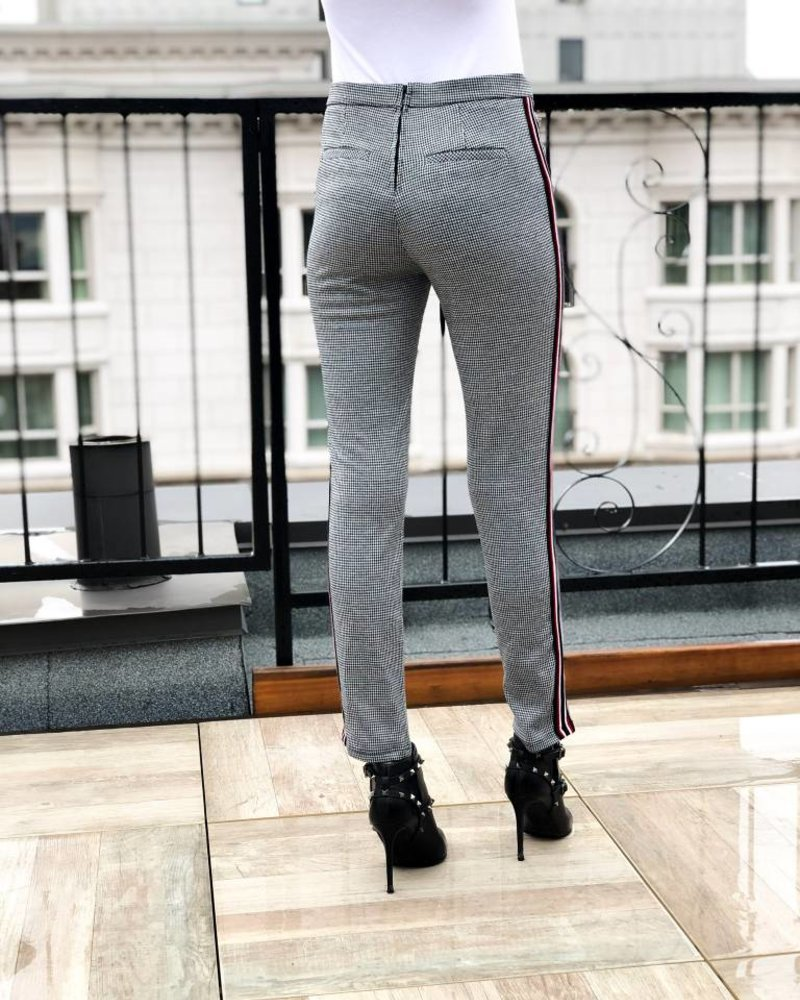 Nouveau Noir Check Yourself Pants
