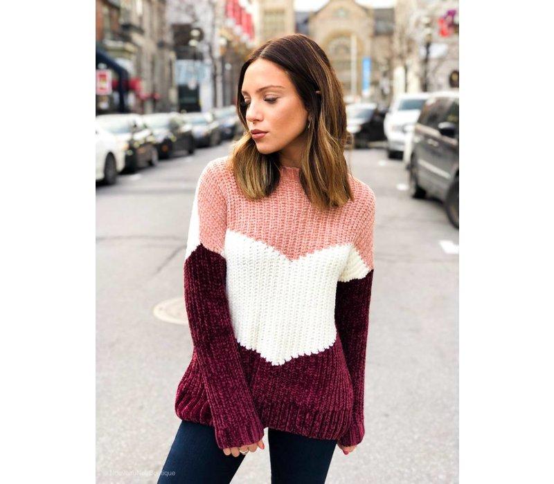 Aliza Pullover Knit Misty Rose
