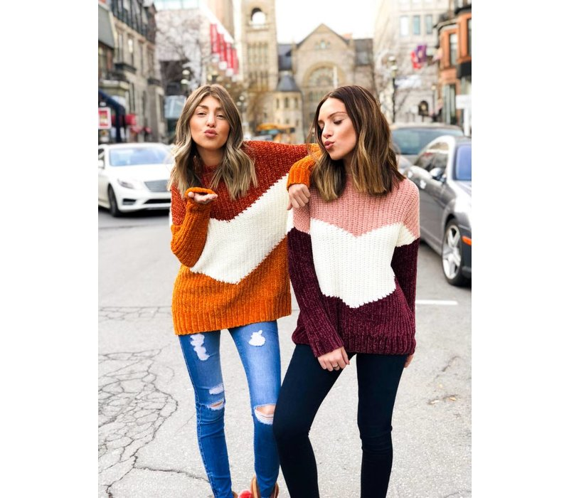 Aliza Pullover Knit Picante