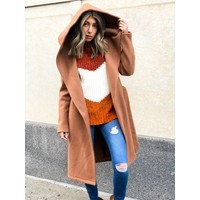 Riley Wool Hooded Wrap Coat