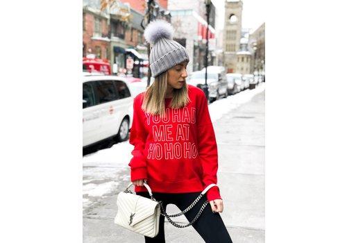 Nouveau Noir Snow Ho Ho Ho Sweatshirt