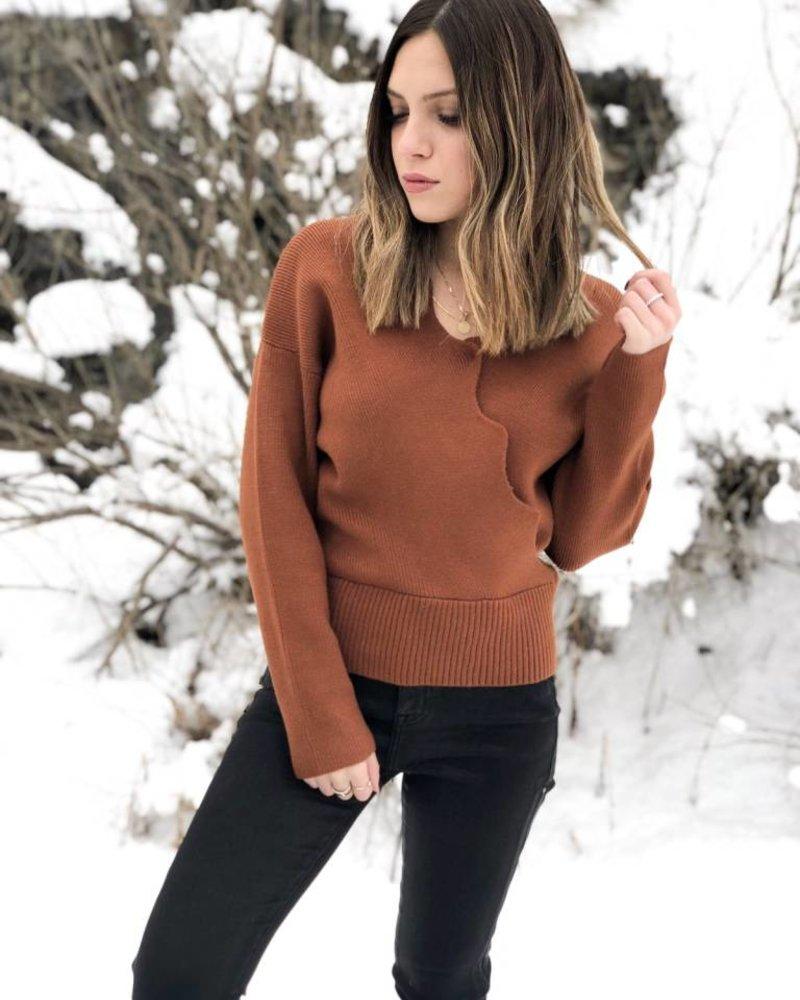 J.O.A Nyla Scalloped Edge Wrap Sweater
