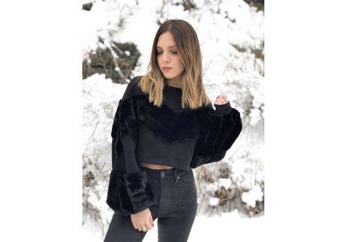 Nouveau Noir Kendall Faux Fur Sweatshirt