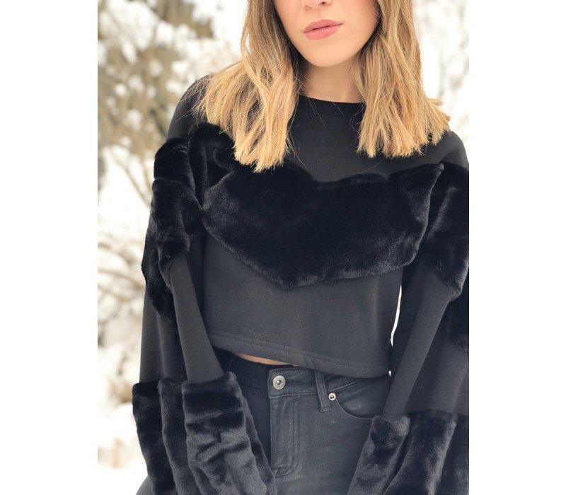 Kendall Faux Fur Sweatshirt