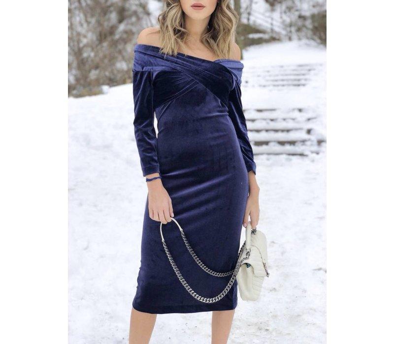 Romana Dress Navy