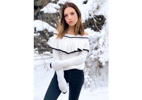 Nouveau Noir Amerie Ruffle Sweater