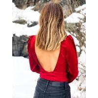 Scarlett Open Back Top Red