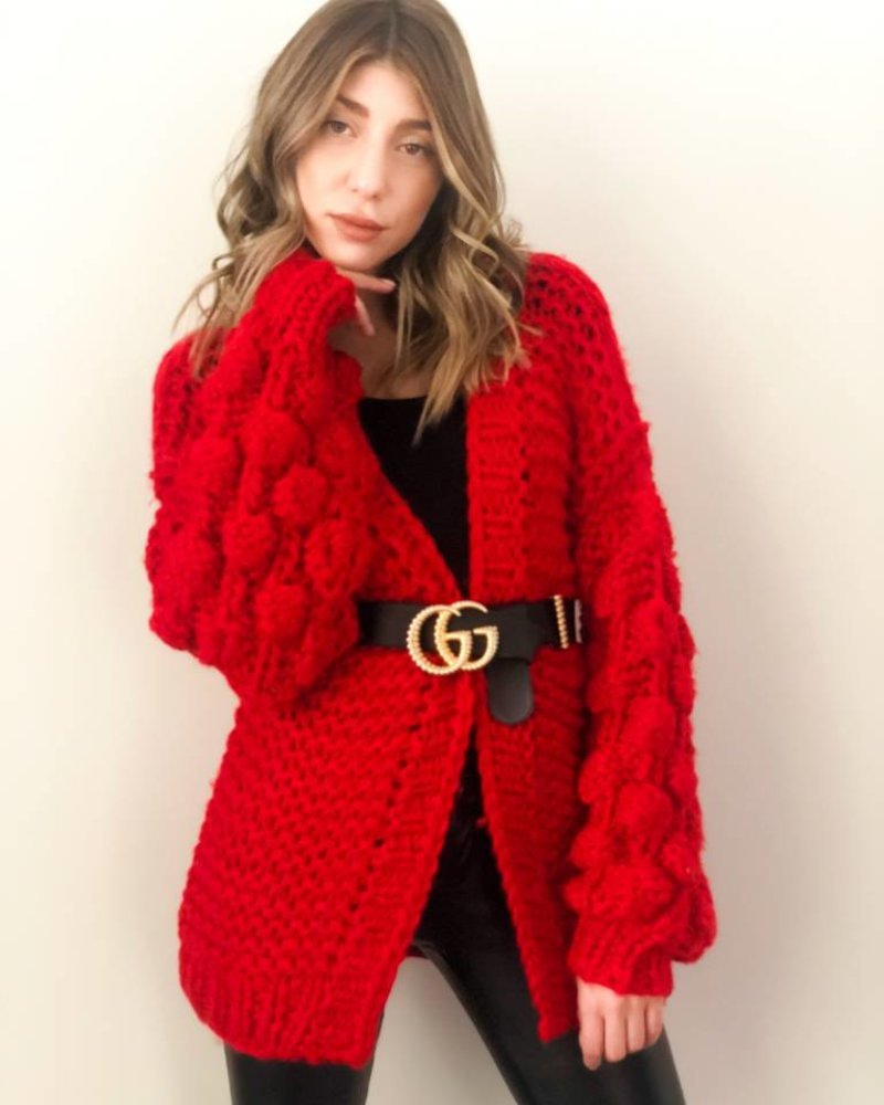 Nouveau Noir Notting Hill Cardigan Red