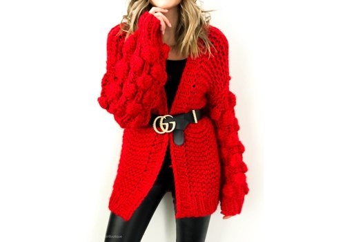 Nouveau Noir Notting Hill Cardigan Red