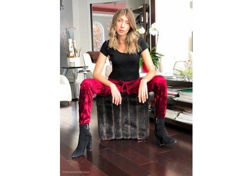 Nouveau Noir Vida Velvet Pants Merlot