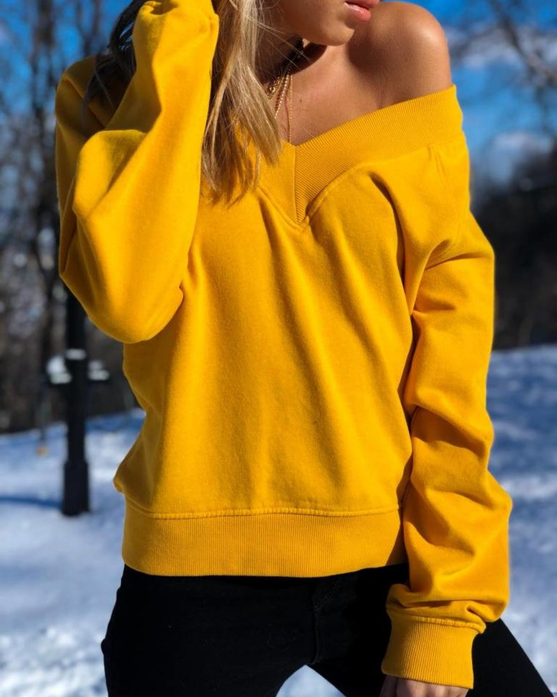 Nouveau Noir Rosemary V-Neck Sweater