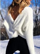 Nouveau Noir Knot Your Baby Fluffy Sweater