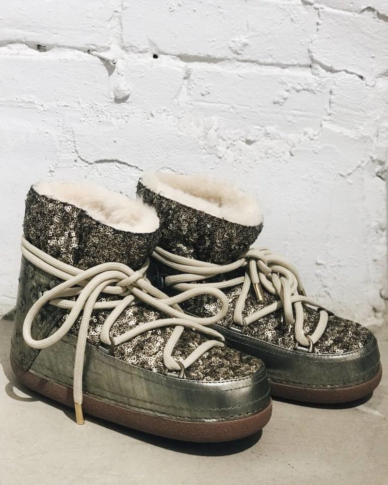INUIKII BOOT SEQUIN OLIVE 38 **FINAL SALE**