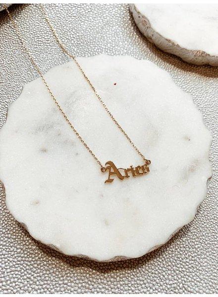 Nouveau Noir Aries Necklace
