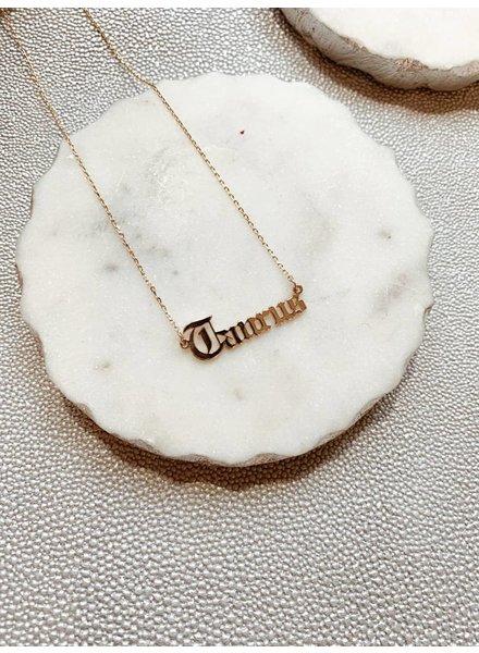 Nouveau Noir Taurus Necklace