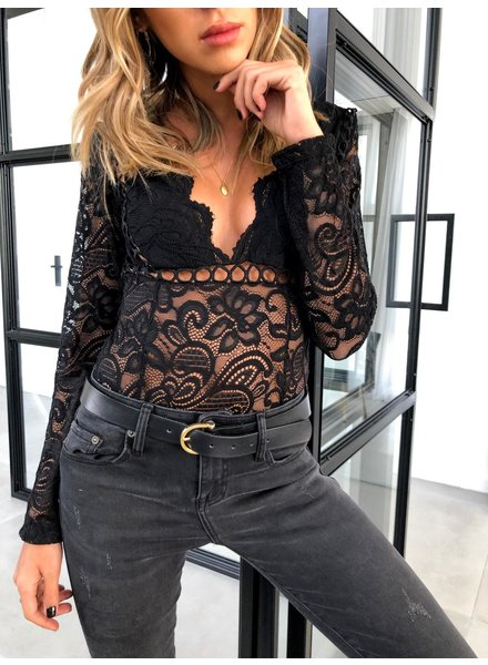 Nouveau Noir Mia Lace Bodysuit