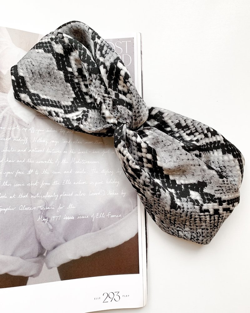 Nouveau Noir Tulum Scarf Headband