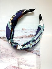 Nouveau Noir St. Tropez Headband Navy/Light Blue