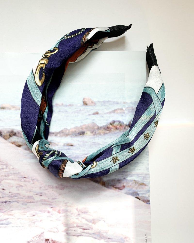 Nouveau Noir St. Tropez Headband Navy/Light Blue