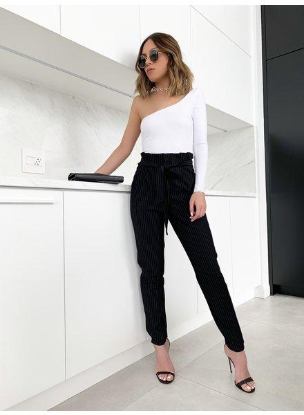 Nouveau Noir Florence Pinstripe Ankle Pant