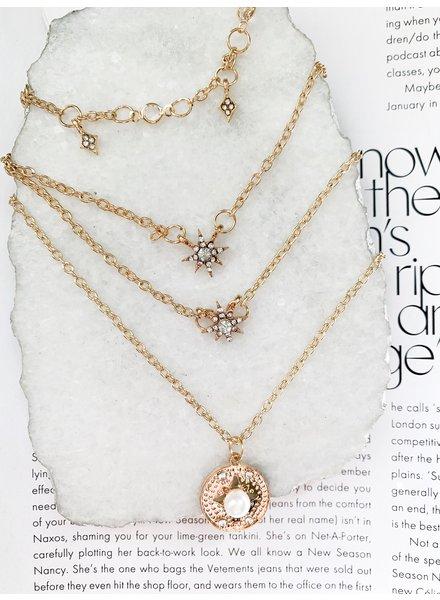 Nouveau Noir Skye Layered Necklace