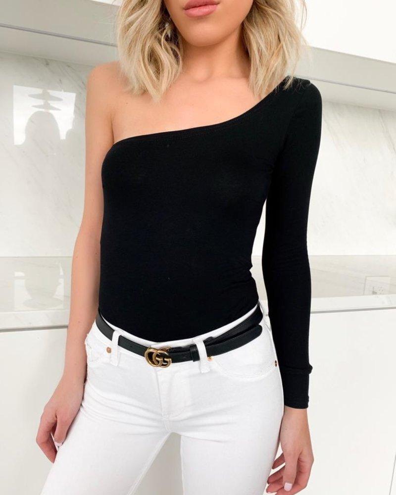 Nouveau Noir Harlow One Shoulder Bodysuit