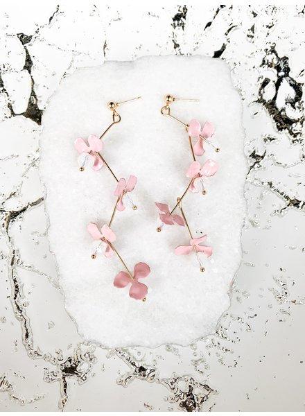Nouveau Noir Bette Drop Earrings Pink