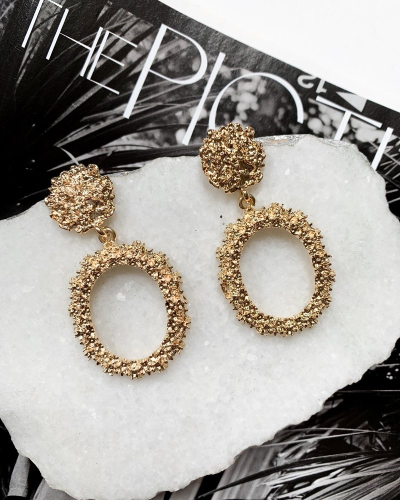 Nouveau Noir Eliana Earrings Gold