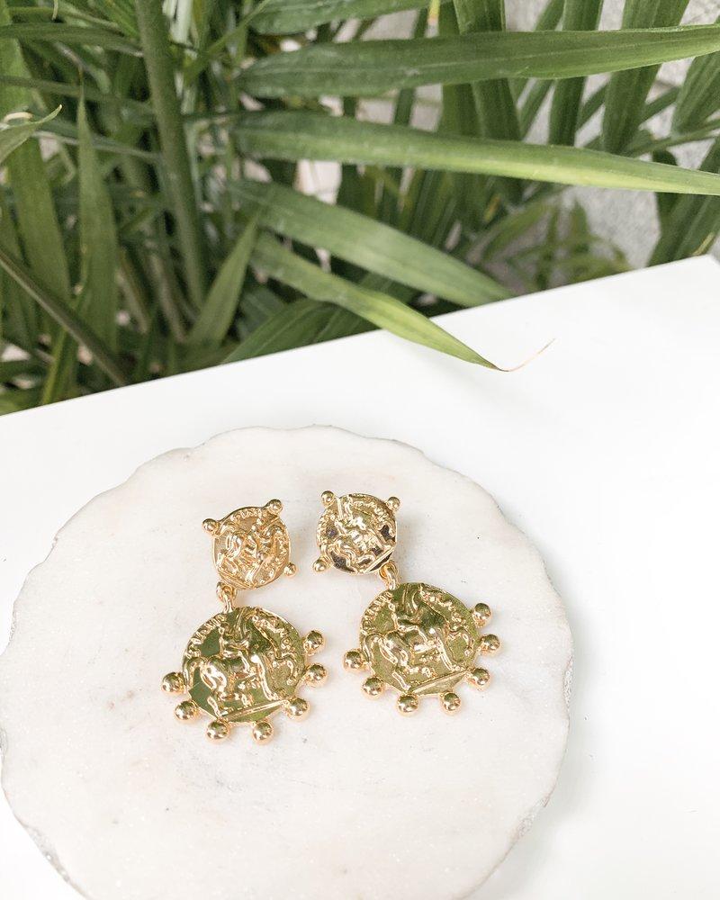 Nouveau Noir Emery Earrings