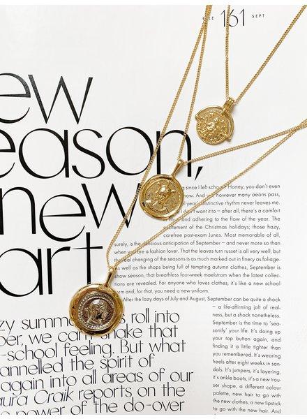 Nouveau Noir Mila Coin Layer Necklace