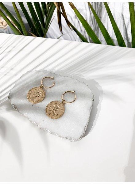Nouveau Noir Julia Coin Earrings