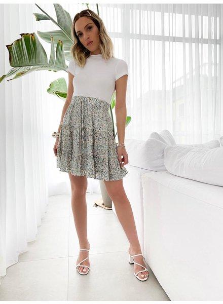 Nouveau Noir Acacia Floral Skirt