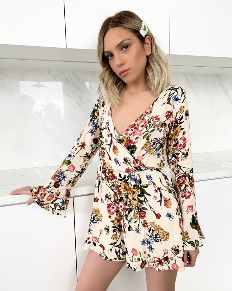 Nouveau Noir Gemma Floral Romper