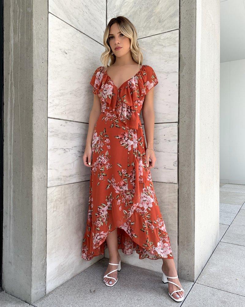Nanette Ruffle Wrap Dress