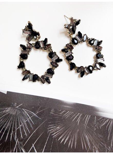 Nouveau Noir Janella Earrings Black