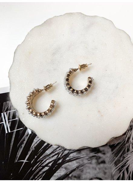 Nouveau Noir Lisette Earrings