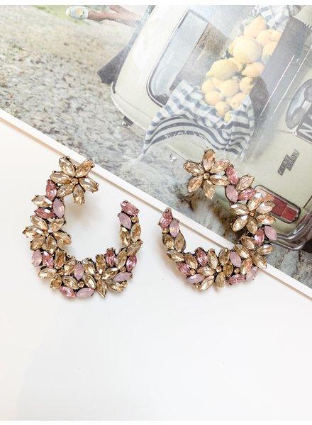 Nouveau Noir Kimora Earrings Blush