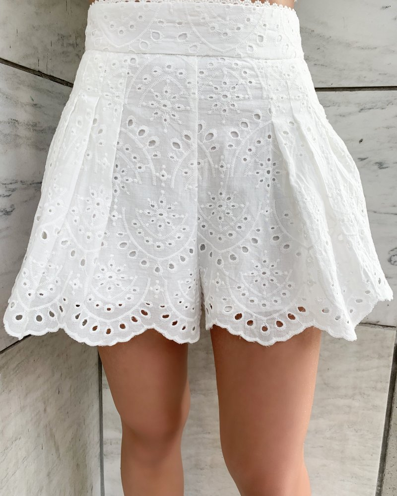Nouveau Noir Capri Eyelet Shorts