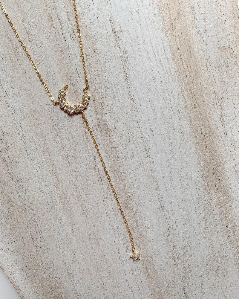 Nouveau Noir Naya Lariat Necklace