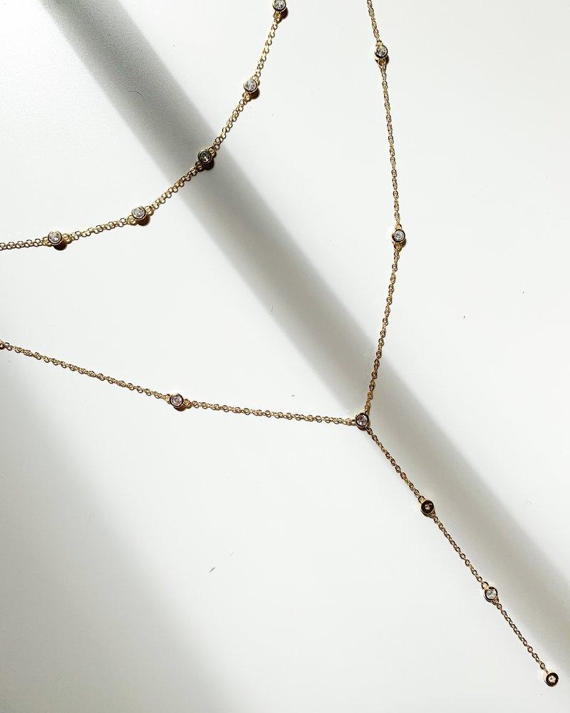 Nouveau Noir Micah Layered Necklace