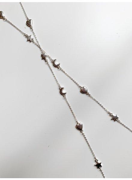 Nouveau Noir Mars Necklace