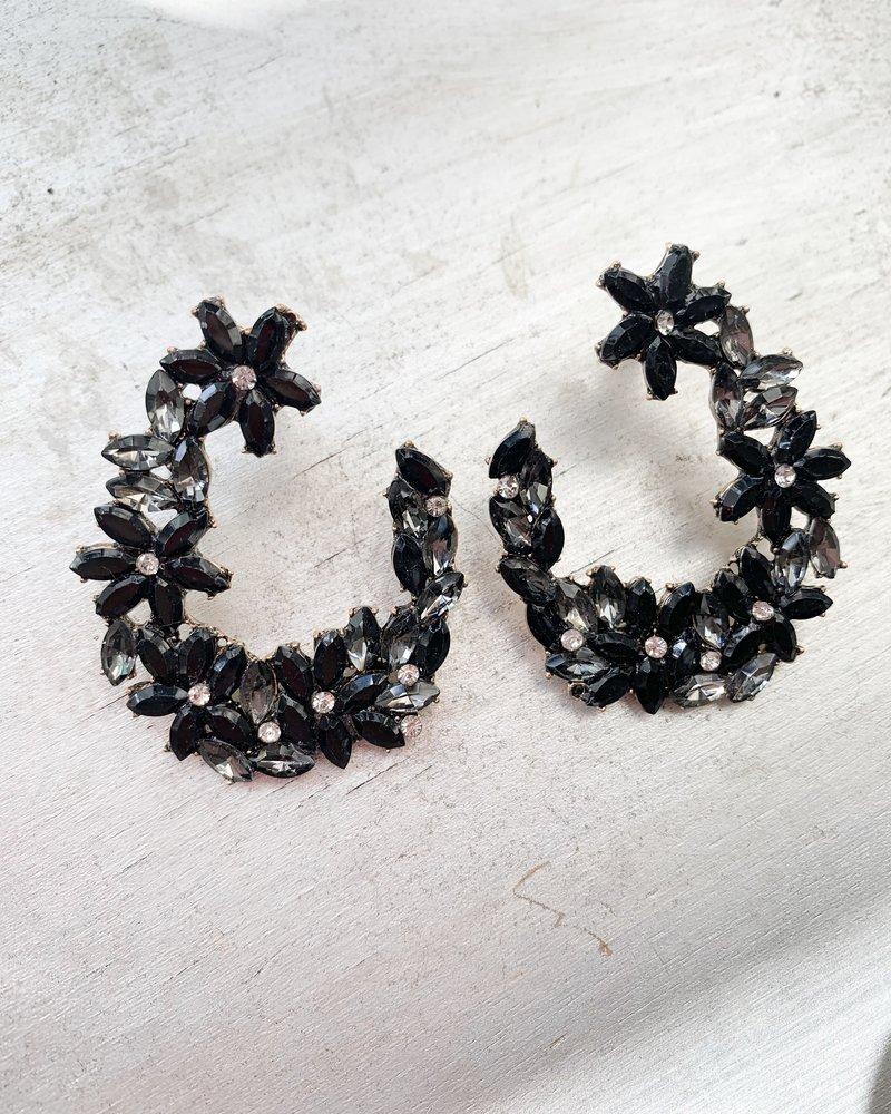 Nouveau Noir Kimora Earrings Black