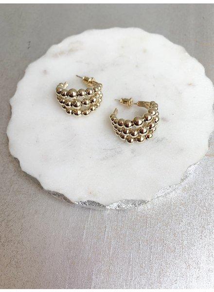 Nouveau Noir Layla Earrings Gold