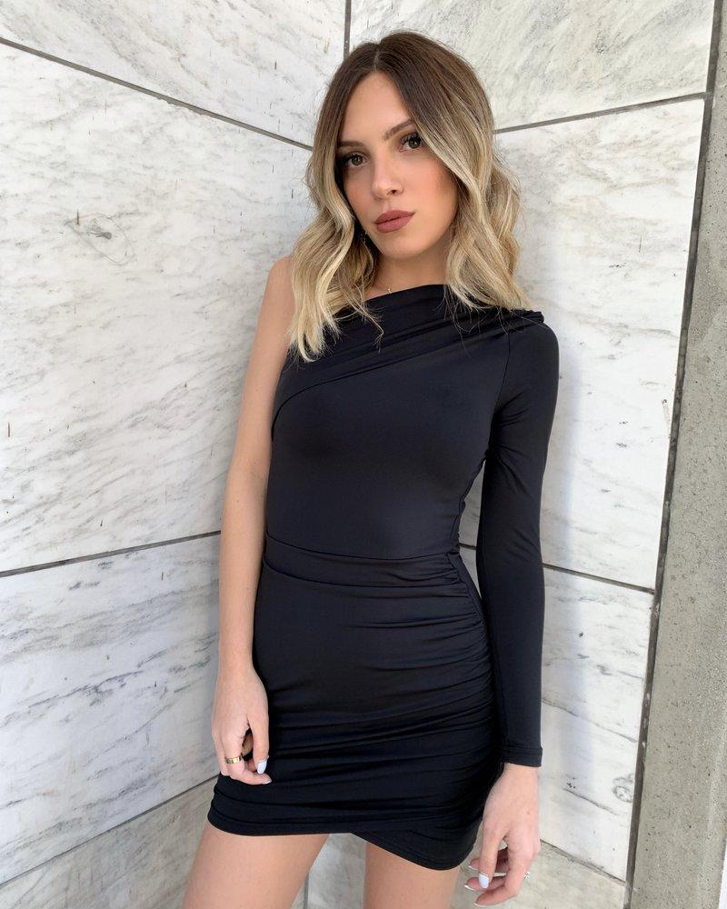 Nouveau Noir Helene One Shoulder Dress