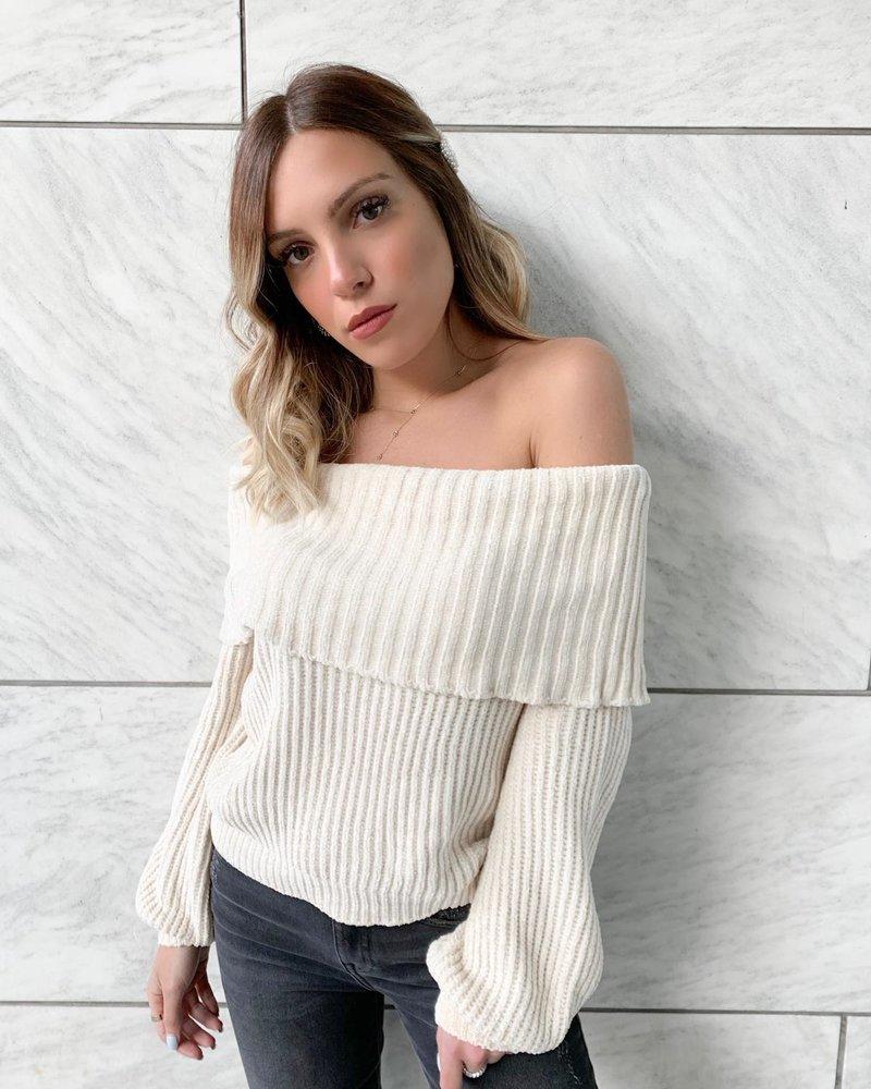 Nouveau Noir Taylor Off The Shoulder Sweater